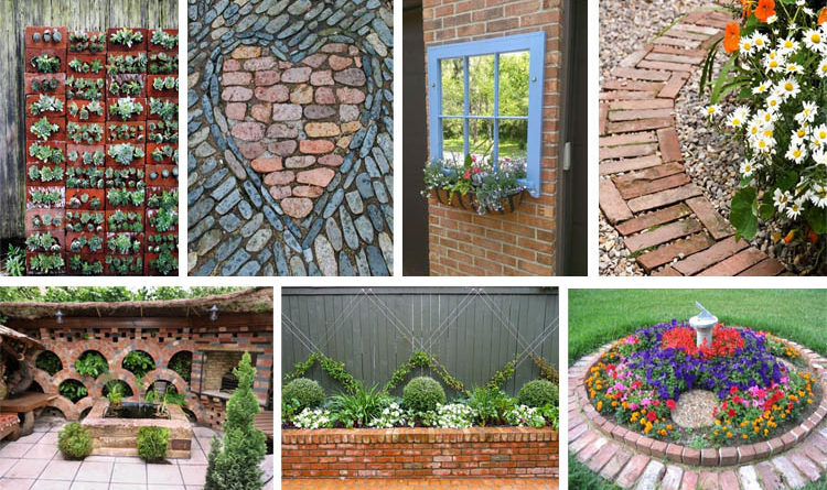Brilliant diy garden decor ideas with old bricks to save for Uses for old bricks