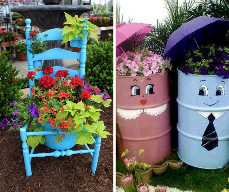 15 recycled items to add personality to your garden