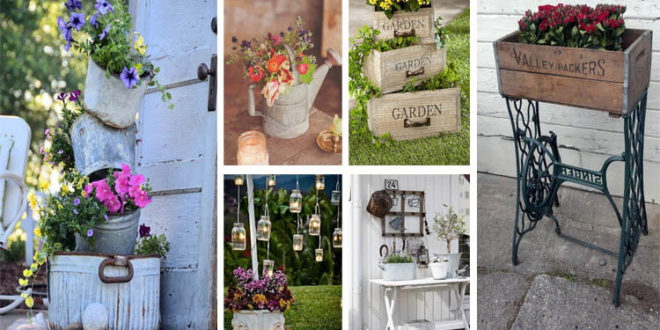 vintage garden ideas to give your outdoor space vintage flair