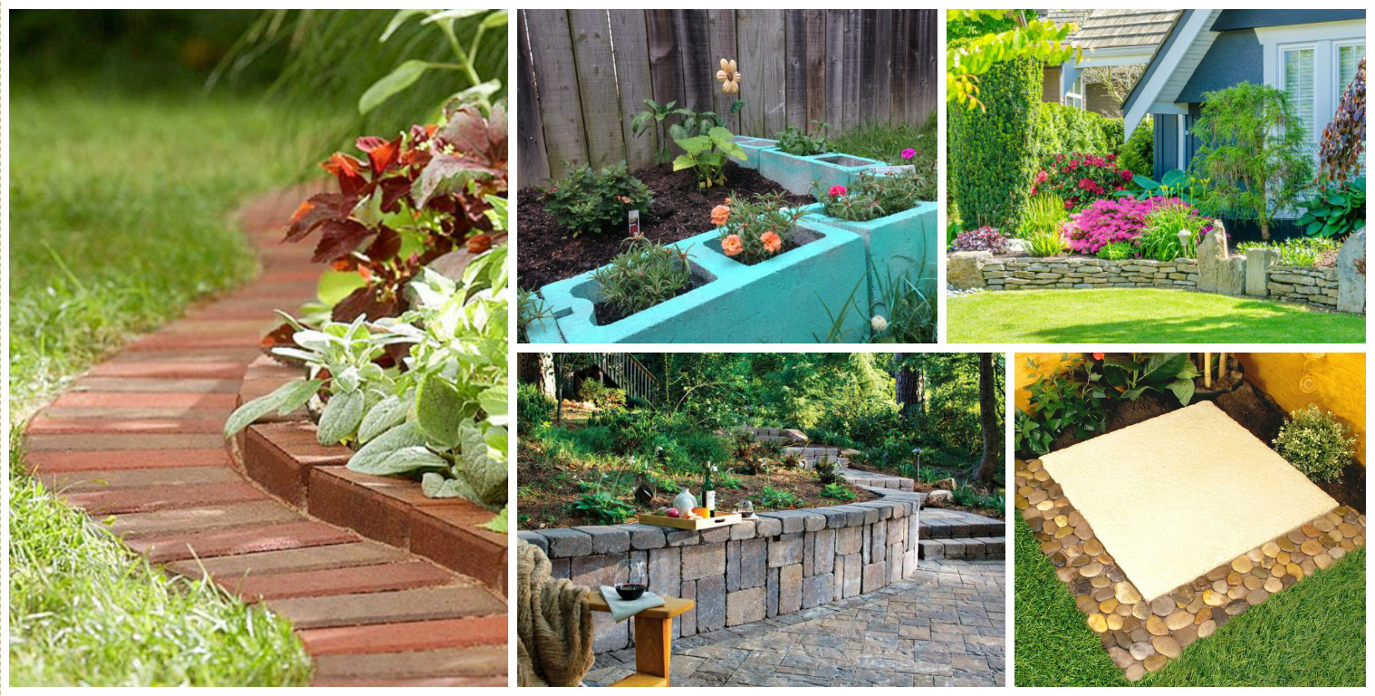 15 creative garden edging ideas for a better outdoor look for Ideas for your garden