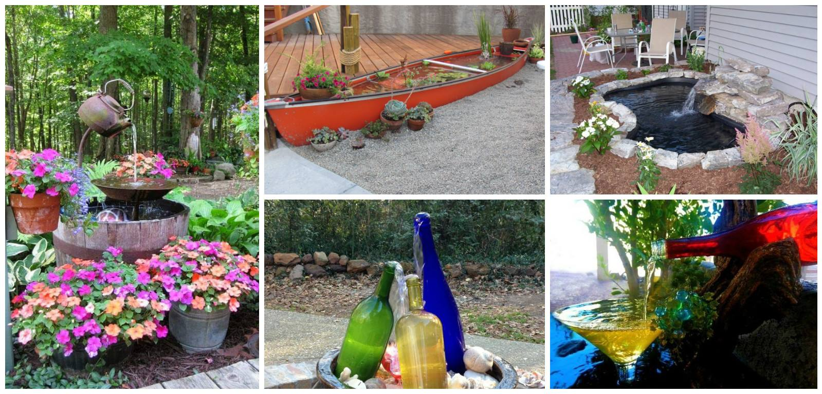 19 Diy Water Features That Will Enhance Your Garden S