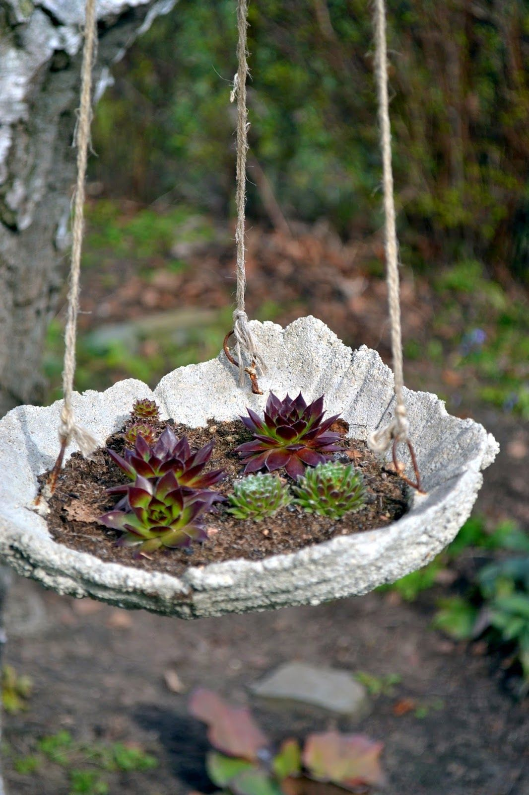 concrete hanging garden - Concrete Garden Decor
