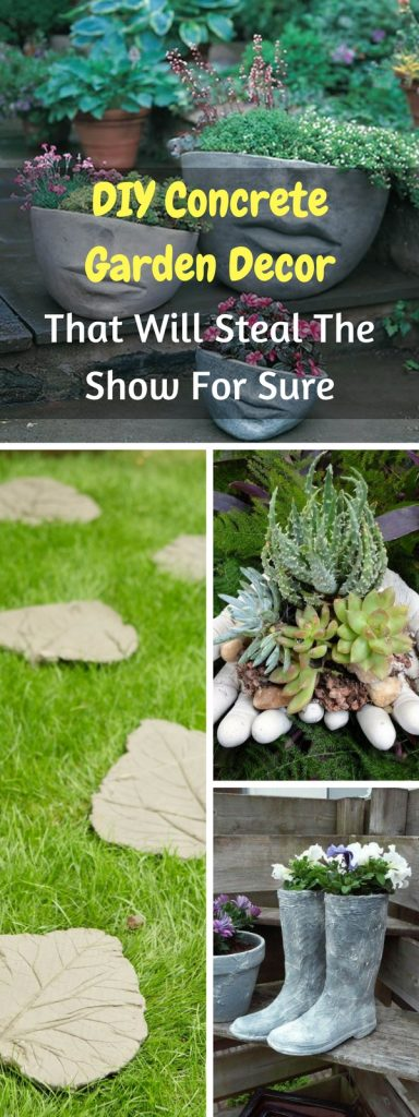 diy concrete garden decor that will steal the show for sure - Concrete Garden Decor
