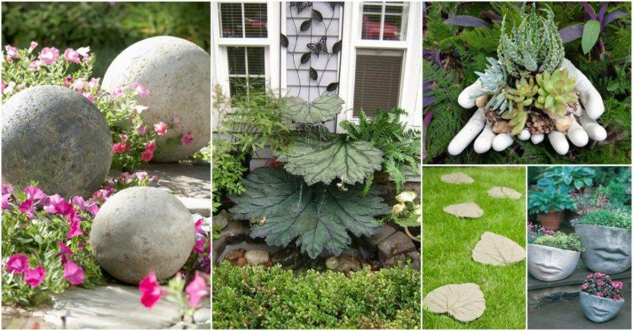 diying is always a good choice when it comes to bringing some new decor to your garden so why not try making some diy concrete garden decor for a change - Concrete Garden Decor