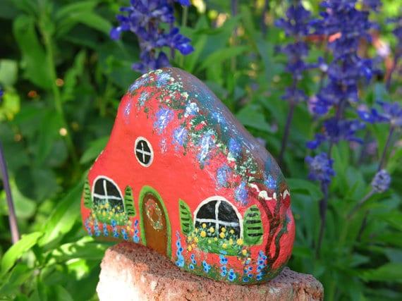 Fairy Painted Rocks Garden Art