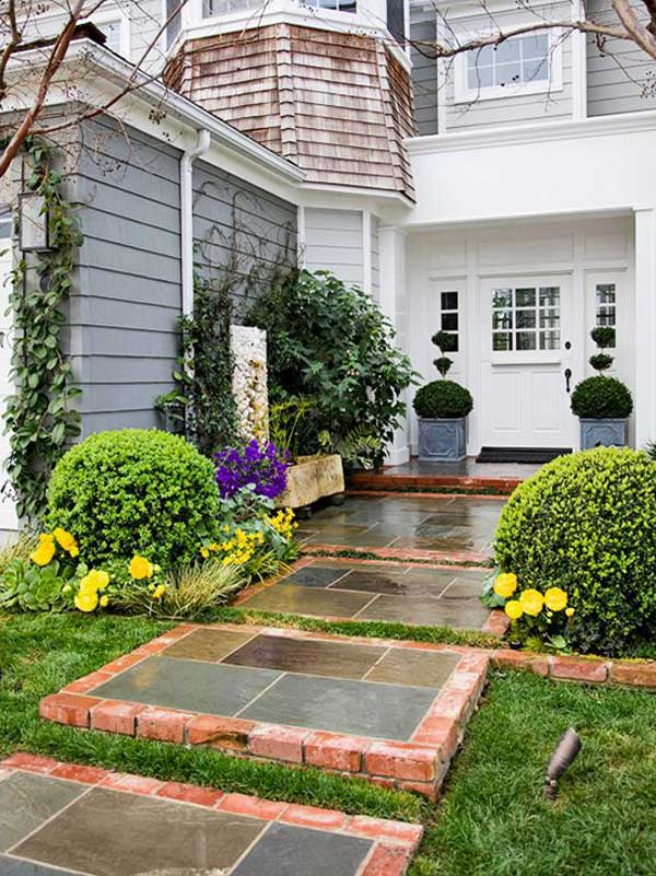 Front Of House Landscape Ideas Curb Appeal Bricks