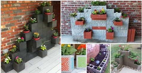 10 impressive cinder block gardens that will take your for Concrete block landscaping ideas