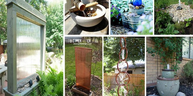 18 Crystal Clear And Calming Diy Water Feature Ideas For Outdoor Beauty