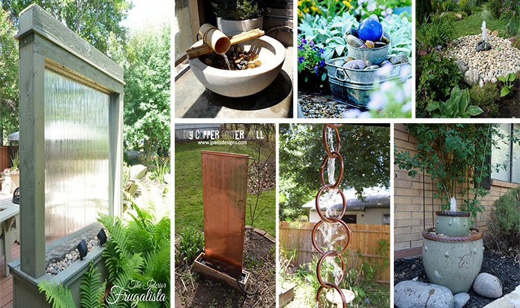 18 Crystal Clear And Calming Diy Water Feature Ideas For