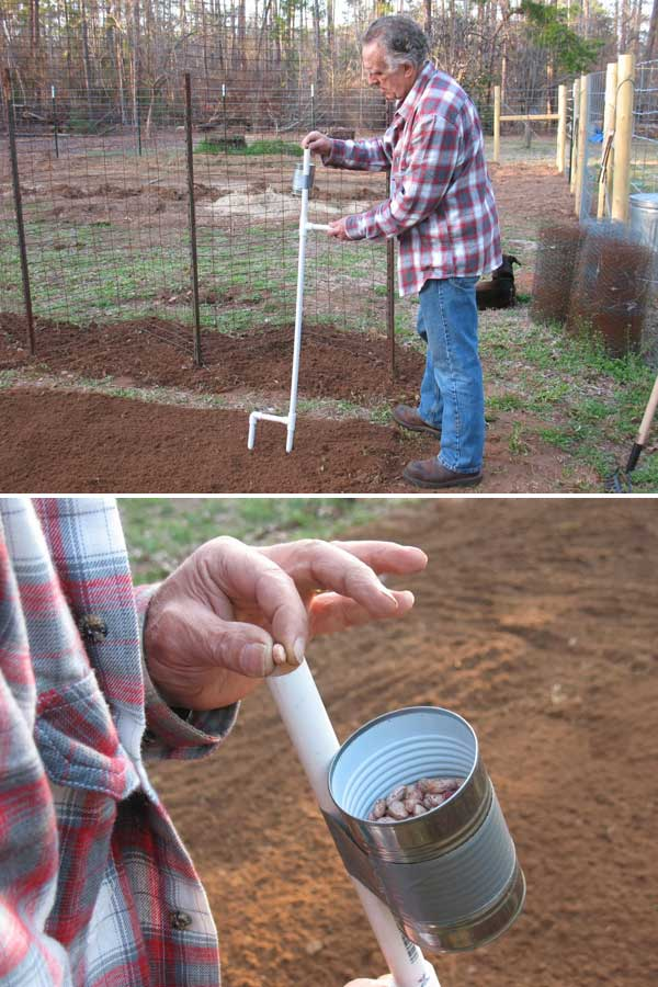 Build A Hand Held Seeder To Let You Stand Up To Plant Beans And Corn.
