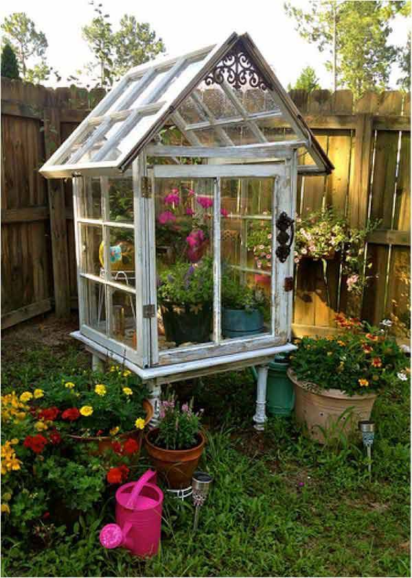 diy greenhouse using old windows