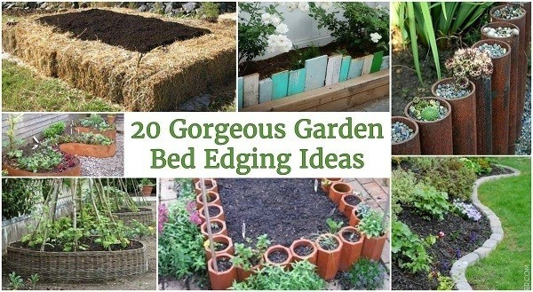 20 Gorgeous Garden Bed Edging Ideas That Anyone Can Do