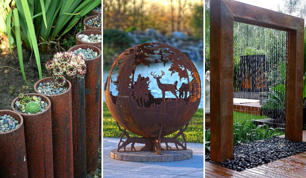 Amazing DIY Ideas For Outdoor Rusted Metal Projects - Outdoor diy projects