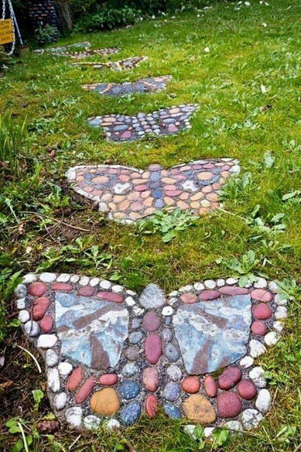 Elegant 3.Spring Butterfly Stepping Stones