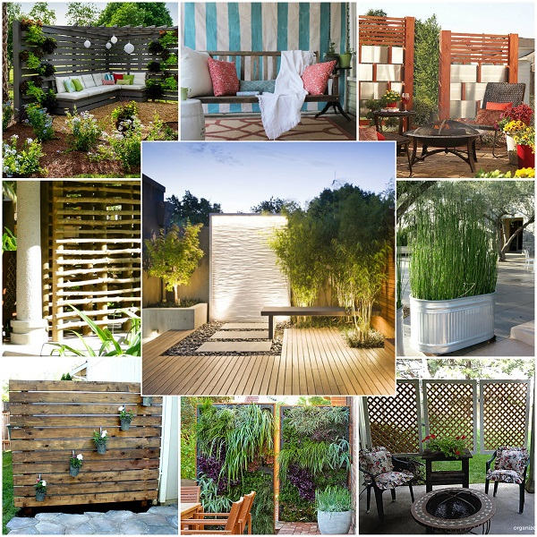 13 privacy ideas that ll keep your neighbors from snooping for Cheap garden privacy ideas