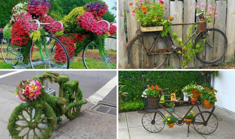 18 mind blowing bicycle planter ideas for your garden or for Mind boggling ideas