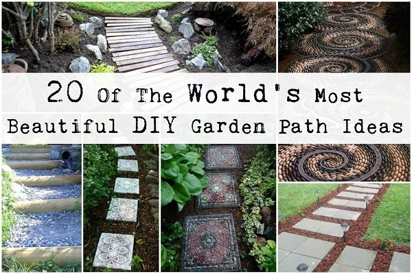 20 of the world s most beautiful diy garden path ideas for Diy pathway ideas