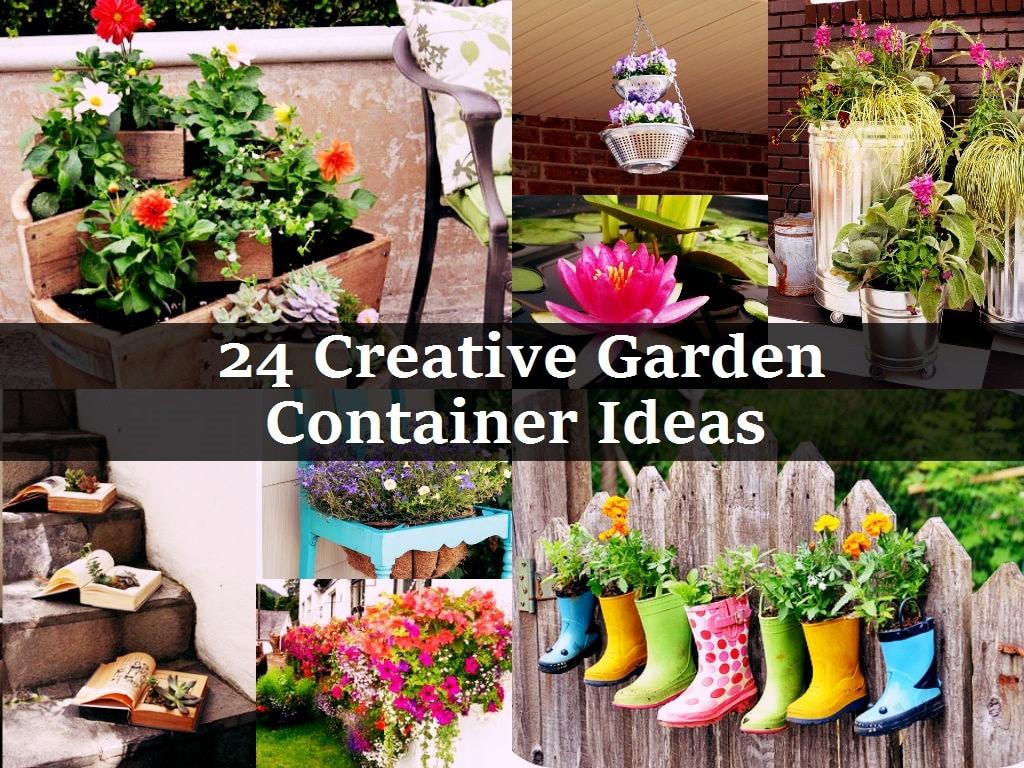 24 container gardening ideas jpg