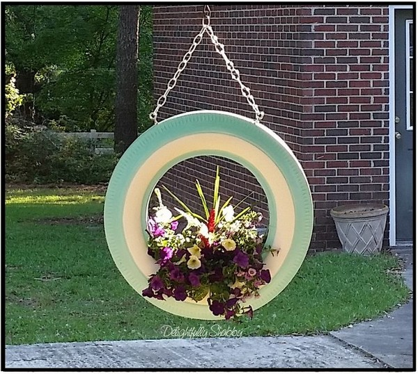 20 diy tire planters that will catch your attention