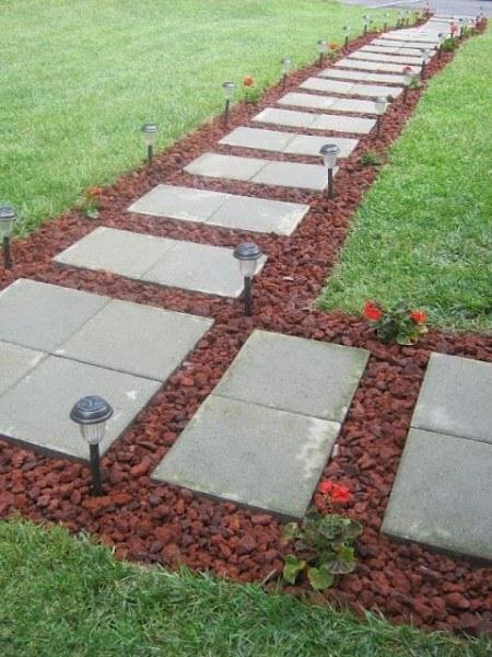 cement pavers - Diy Garden Path Ideas
