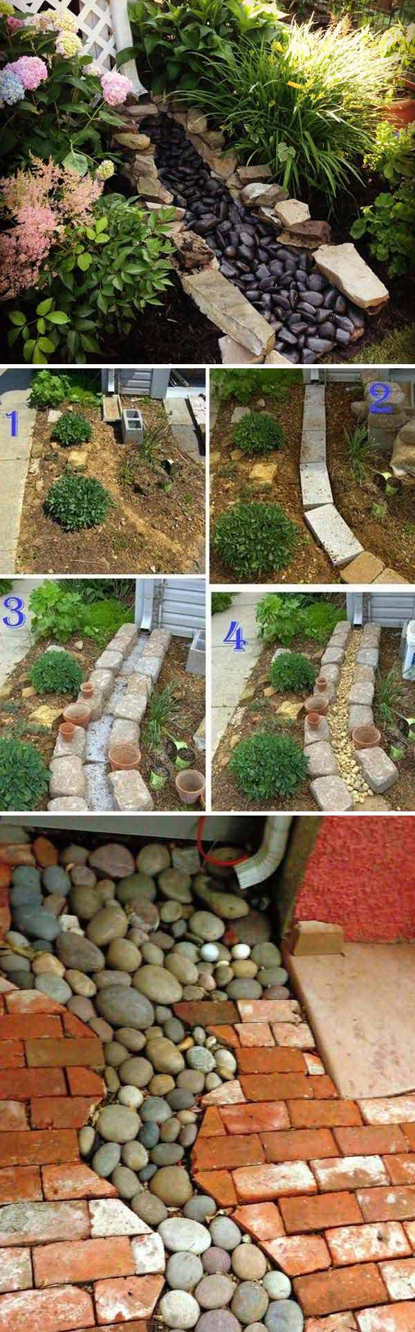Decorative Yard Drainage : The best diy ideas to create a decorative downspout