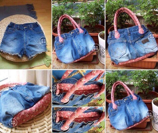 Сумка сделанная своими руками из джинсов