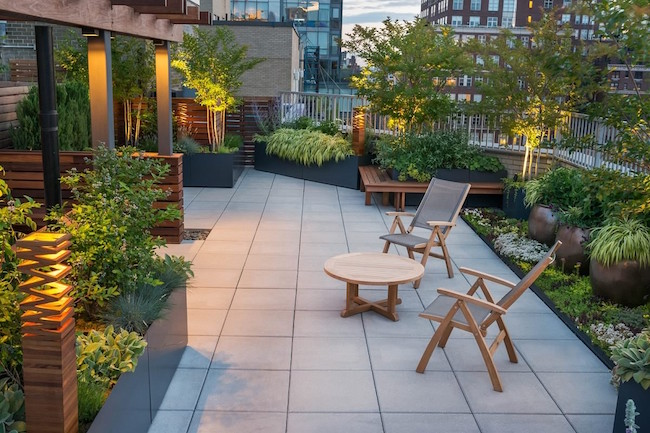 Stunning Rooftop Garden Patio