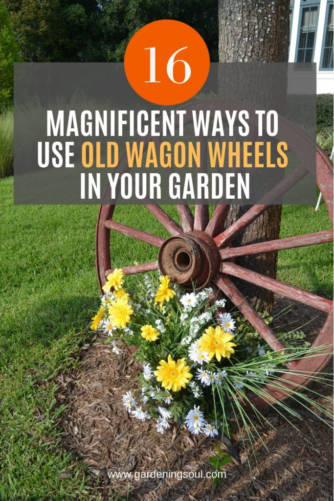 16 Magnificent Ways to Use Old Wagon Wheels In Your Garden