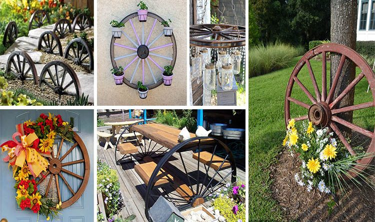 old-wagon-wheels-garden-use