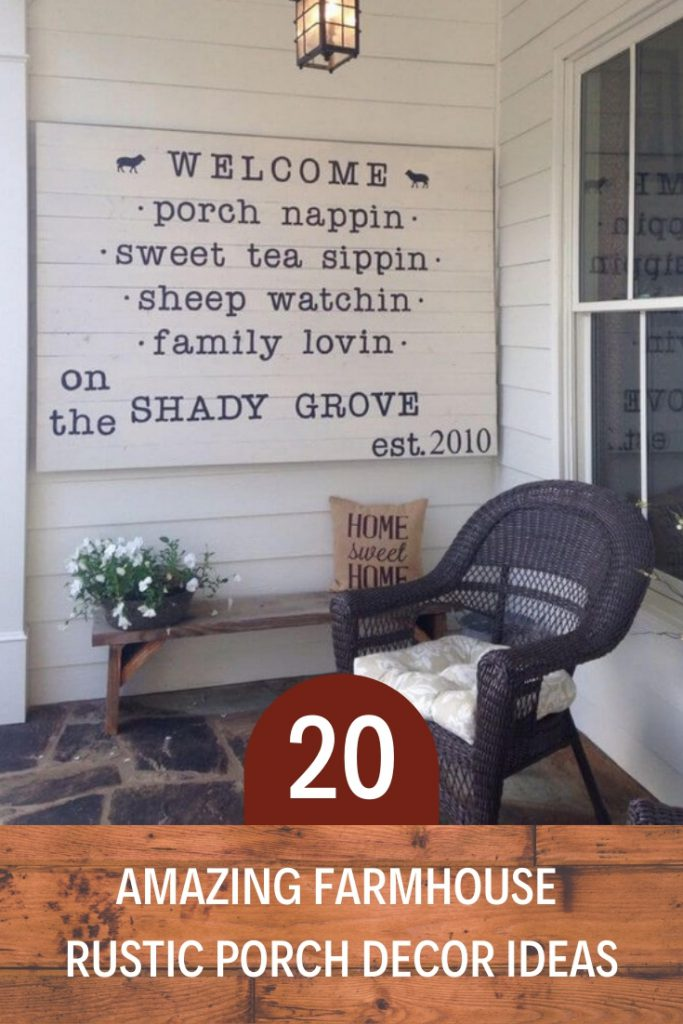20 Amazing Farmhouse Rustic Porch Decor Ideas